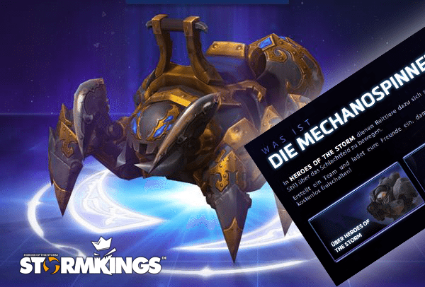 spinnenmount heroes of the storm free 2 play